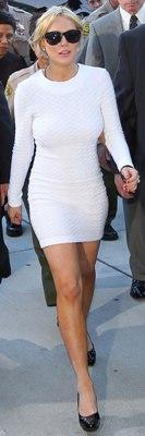 lindsay lohan in vestito bianco