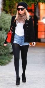 Nicole richie look inverno con shorts