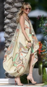 Nicole richie vestito simil hippie extralarge