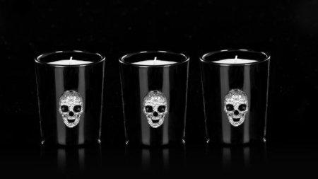 ahalife candle skull