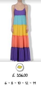coloured dress moschino