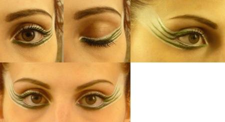 wild stripes make up green white