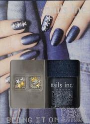 nails inc bling it on denim studs