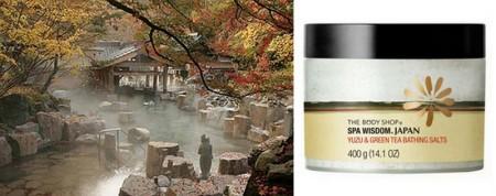 the body shop yuzu&green tea bathing salts