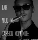 Tar – Thick, oily, dark mixture that causes cancers. Nicotine – Highly poisonous, oily liquid that acts on the brain. Carbon Monoxide – Highly poisonous, odorless gas.